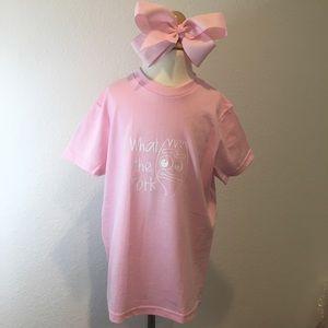 Other - Forkey custom printed T-shirt NWOT girls size LG